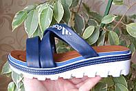 Распродажа! Шлепанцы Adidas синие