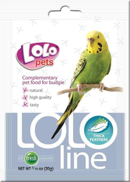 LOLOLine густые перья для волнистых попугаев 20гр. Lolopets