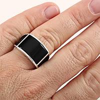 Серебряное 925 мужское кольцо с ониксом, 22р. Турция, фото 1