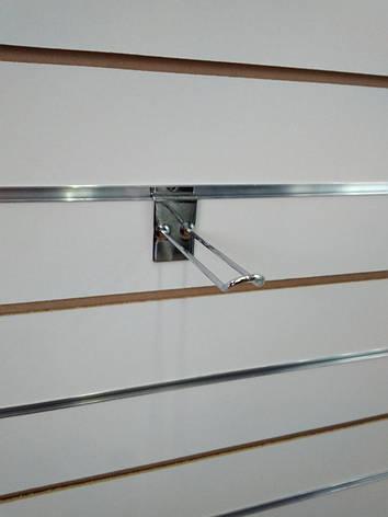 Крючок в экономпанель двойной  ХРОМ 15см., фото 2