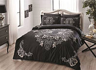 Комплект постельного белья TAC Сатин де люкс  LUMINA V01 черный