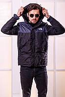 Куртка мужская короткая с капюшоном
