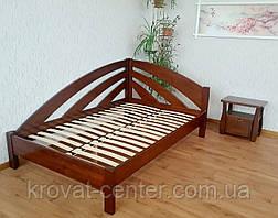 """Белая полуторная кровать угловая из массива дерева от производителя """"Радуга"""", фото 3"""