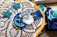 Повязка для девочки ручной работы (размер к-ции 14см, от 0 до 2 лет)