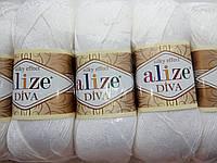 Пряжа для вязания Дива Ализе Alize микрофибра для летних вещей