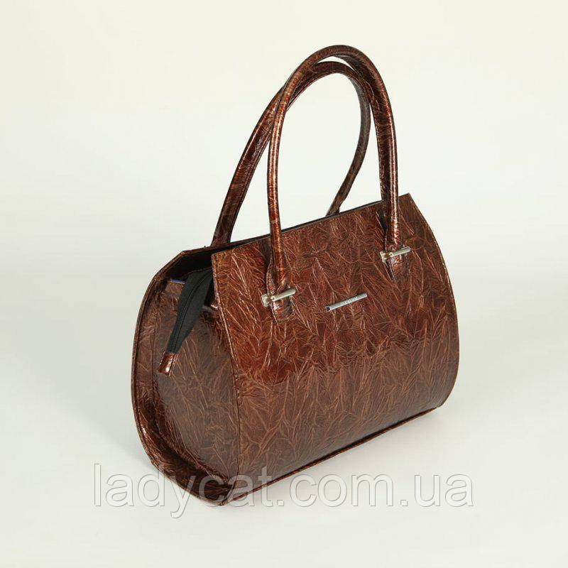 19a5d1e2828e Классическая женская сумка из кожзаменителя коричневого цвета -