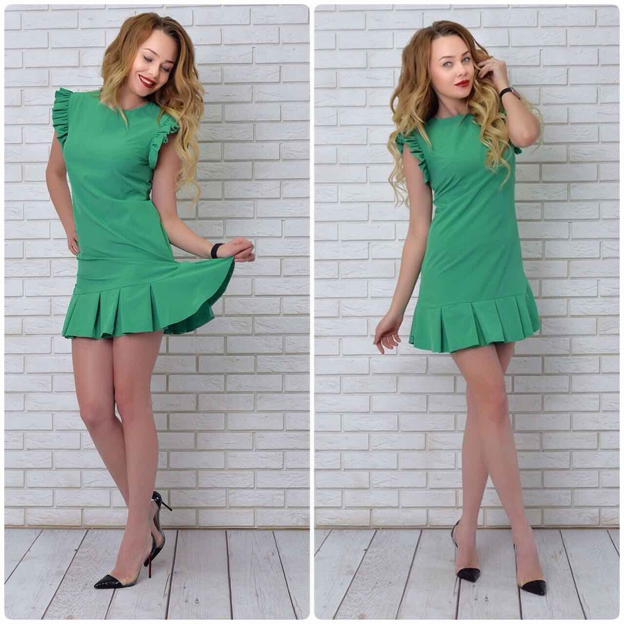 """Платье, модель 782, цвет - зеленый """"трава"""""""