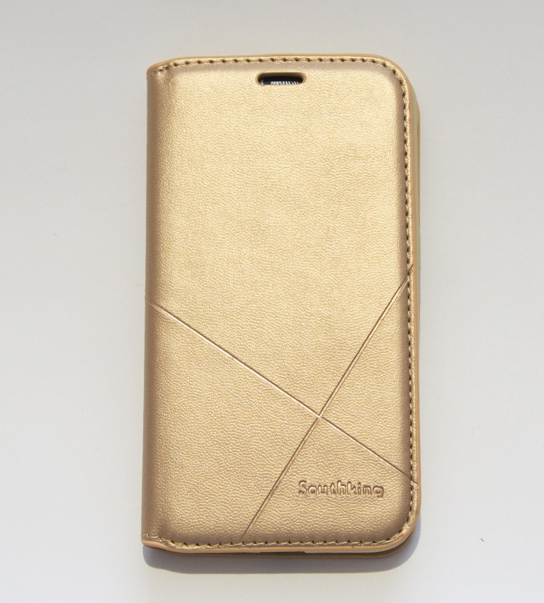 Чехол-книжка для смартфона Samsung Galaxy J1 2016 J120 золотая MKA