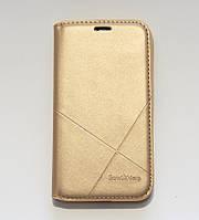 Чехол-книжка для смартфона Samsung Galaxy J1 2016 J120 золотая MKA, фото 1