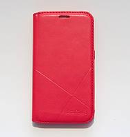 Чохол-книжка для смартфона Samsung Galaxy J1 2016 моделі j120 червона MKA, фото 1