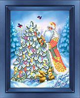 """Схема для вышивки бисером """"Дід Мороз"""""""