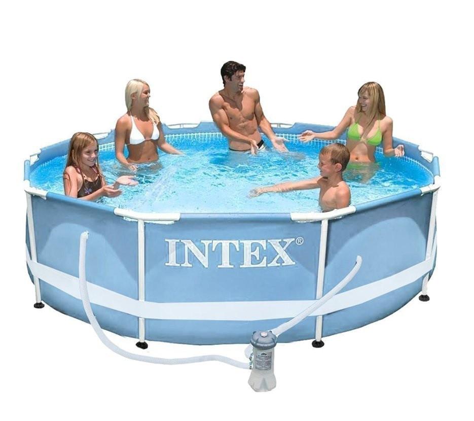 Каркасный бассейн сборный Prism Frame Intex 28702 (305*76 см) + фильтр-насос