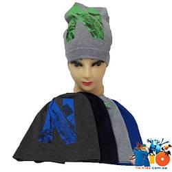 Детская шапка (весна-осень), трикотаж для мальчика, р-р 50