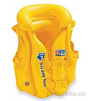Надувной жилет Intex Желтый 58660  от 3 до 6 лет