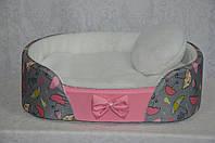 Лежак Фантазия для собак и котов на паралоне розовый
