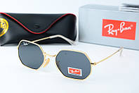 Солнцезащитные очки Rb черные в золоте, фото 1