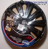 Автомобильные колпаки на колеса Argo R15 GIGA BLACK