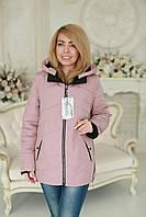 Куртка женская весна - осень модная пудра размеры 52,54,56,58,60