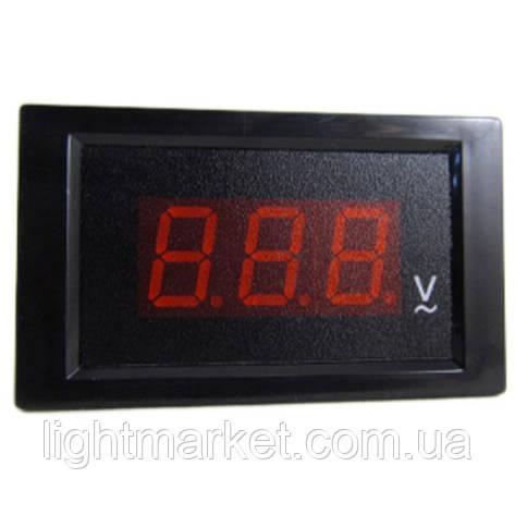Вольтметр шкафной АС80-500v черный, фото 2