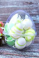 """Набор подвески яйца в контейнере, 12/шт в уп.  """"Яйцо микс"""" белый+зеленый+желтый"""