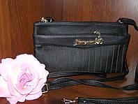 Сумочка-клатч женский 23х13х4 см. Черная