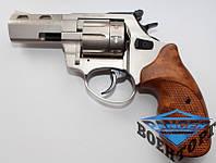 Первый пистолет под патрон Флобера STREAMER R2 титан с коричневой рукоятью
