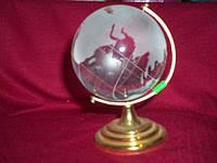 Глобус хрусталь 7,5 см