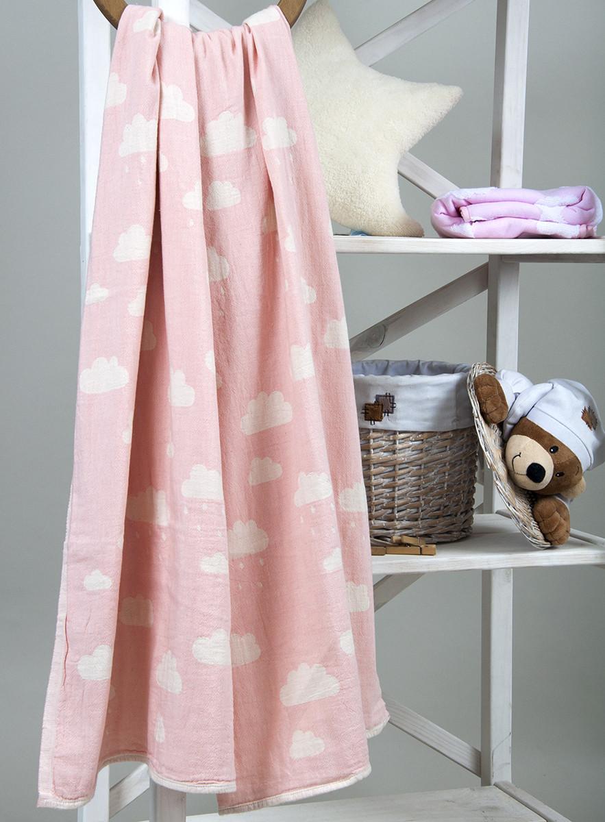 Плед детский Cloud 130х170 розовый Barine
