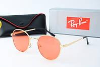 Солнцезащитные очки круглые Rb оранжевые, фото 1