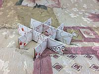 *10 шт* / Перегородка для конфет / 120х120х30 мм / 9 ячеек / Маленьк / печать-Ангел / лк, фото 1