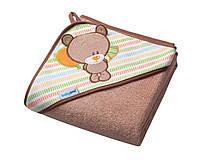 Полотенце махровое  с капюшоном тм Babyono 100х100