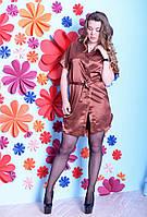 Сатиновый комфортный комплект рубашка+халатик