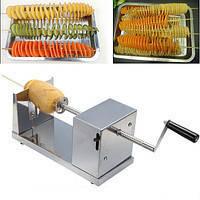 """Слайсер-Овощерезка спиральная для нарезки овощей """"Stainless Steel Potato Slicer""""  Новинка!"""