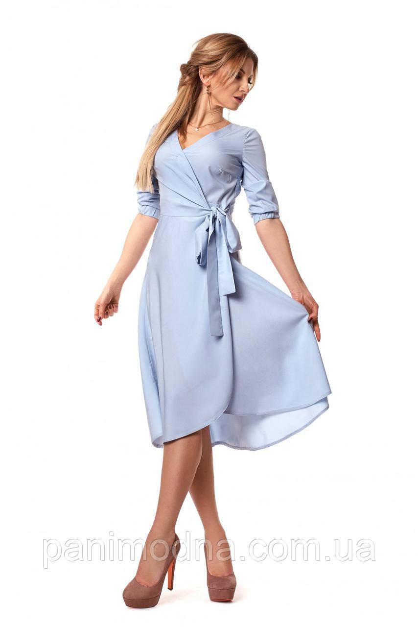 Нарядное легкое платье на запах -  код 1059