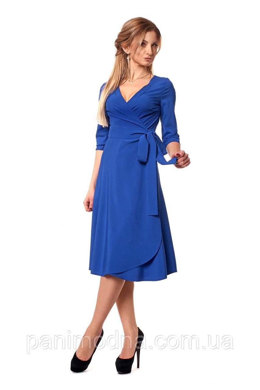 Изящное, нарядное платье на запах -  код 1059