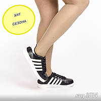 Черные кроссовки из эко-кожи  39 размер, фото 1