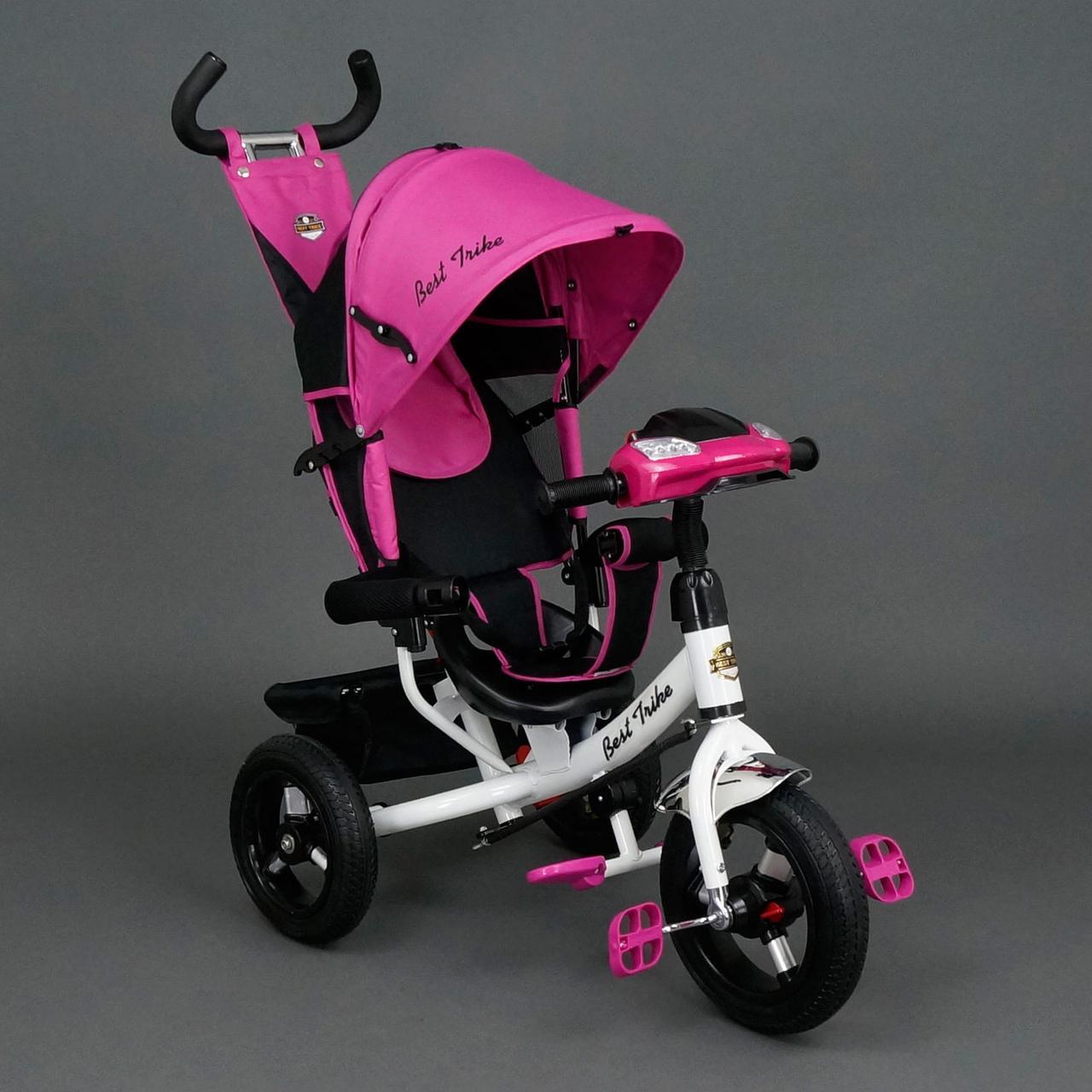 Трехколесный велосипед с фарой и ключом зажигания Best Trike 6588B роз