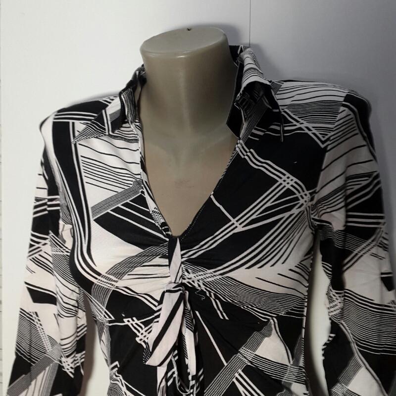 Блуза женская чёрно-белая