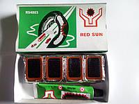 Клей + резиновые латки (прямоугольник малый) Red Sun №4803