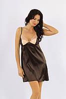 Сорочка ночная женская коричневая, ТМ Ksena