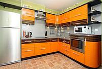 Кухни на заказ с фасадами из МДФ, шпона и стекла в Киеве, кухонная мебель под заказ любой конфигурации, фото 1