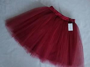 Юбка фатиновая подростковая в модном цвете бордо, с подкладом.Пошив в любом цвете и размере