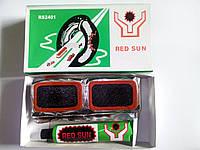 Клей + резиновые латки (прямоугольник средний) Red Sun №2401