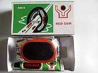 Клей + резиновые латки (овал средний) Red Sun №12