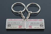 """Двойной брелок для ключей """"Кредитная карта"""", фото 1"""