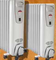 Масленый обогреватель электро радиатор Термия Н1125 2.5 кв