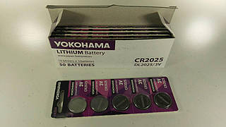 Элемент питания (батарейка) Таблетки Yokohama  2025 (А5) (5 шт)