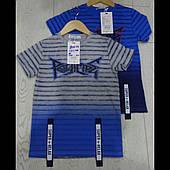 Детские футболки в полосочку для мальчиков оптом GRACE