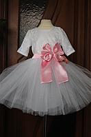 """Нарядное платье на девочку """"Блюз"""" с рукавом"""