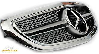 Решетка радиатора Mercedes W212 рестайл в стиле AMG (хром)